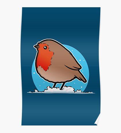 Cute Christmas Robin Poster