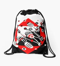 MICROGRAVITY - RED & BLACK Drawstring Bag