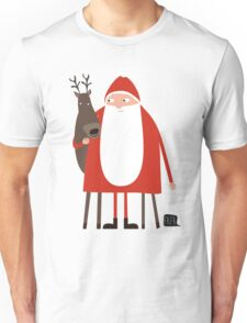 Weihnachtsmann mit Rentier T-Shirt