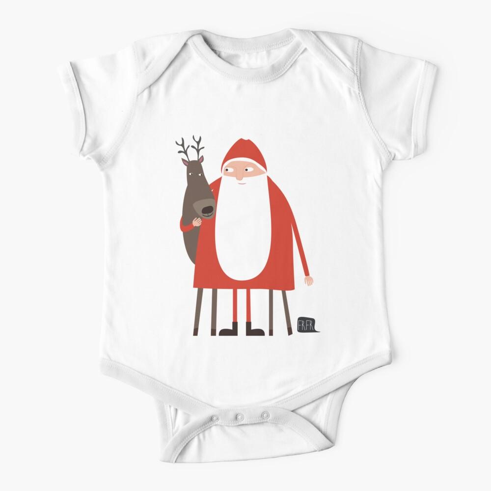 santa and his reindeer weihnachtsmann mit rentier baby. Black Bedroom Furniture Sets. Home Design Ideas