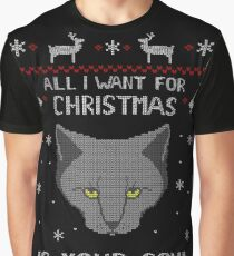 all I want for Christmas is your SOUL - ugly christmas sweater  Graphic T-Shirt