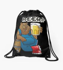 Beer Bear Drawstring Bag