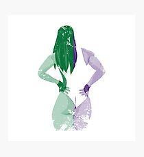 Minimalist She-Hulk Photographic Print