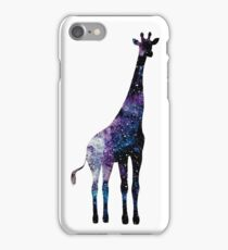 Watercolor galaxy in giraffe iPhone Case/Skin