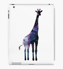 Watercolor galaxy in giraffe iPad Case/Skin