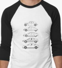 Citroen Haut de Gamme car art, TA, DS, CX, XM, C6. Men's Baseball ¾ T-Shirt