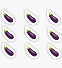 eggplant emoji ♥ Sticker