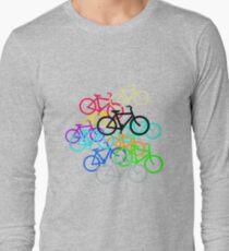 Amsterdam Bicycle Pattern. Long Sleeve T-Shirt