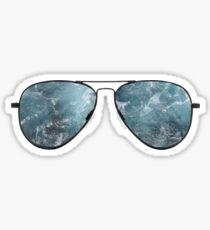ocean glasses Sticker