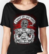 Say You Love Satan 80s Horror Podcast - Creepshow Basketcase VHS Women's Relaxed Fit T-Shirt