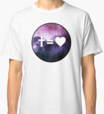 Cross Equals Heart Classic T-Shirt