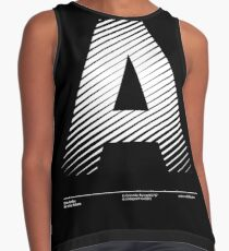 The letter A Contrast Tank