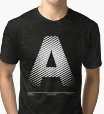 The letter A Tri-blend T-Shirt