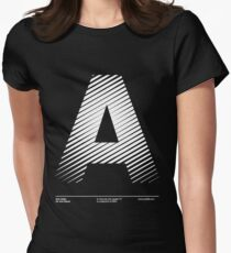The letter A Women's Fitted T-Shirt