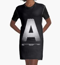 The letter A Graphic T-Shirt Dress
