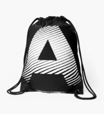 The letter A Drawstring Bag