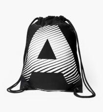 The letter A Drawstring Bag