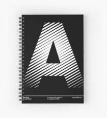 The letter A Spiral Notebook