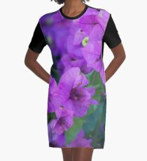 Bougainville in purple Graphic T-Shirt Dress