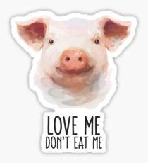Animal Rights Statement Pig Sticker