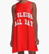 I Sleigh All Day A-Line Dress