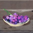 Grapes on Plank Table by FairyNerdy