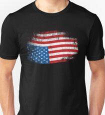 Upside Down American Flag US in Distress T-Shirt Unisex T-Shirt