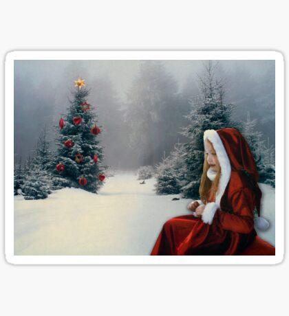 White Winter Hymnal Sticker