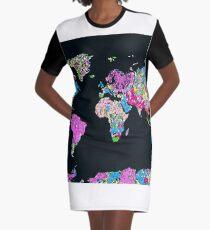 world map Graphic T-Shirt Dress