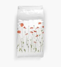Poppy flowers Duvet Cover