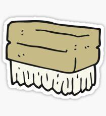 cartoon scrubbing brush Sticker