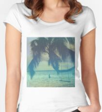 Tropical beach Women's Fitted Scoop T-Shirt