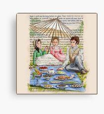 Jane Austen - Emma's Picnic Canvas Print