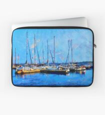 Boats on Ontario Lake on a Nice Sunny Summer Day Laptop Sleeve