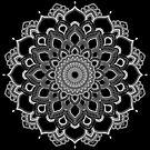 White Mandala on Black by WelshPixie
