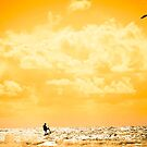 extreme kite surfer jumping waves by morrbyte