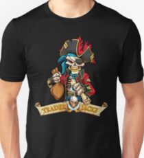 Trader Jack's Skeleton Pirate Billy Bones Unisex T-Shirt