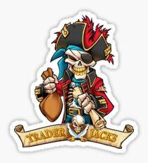 Trader Jack's Skeleton Pirate Billy Bones Sticker