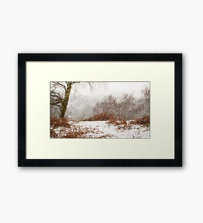 Downs Banks in the Snow Framed Print