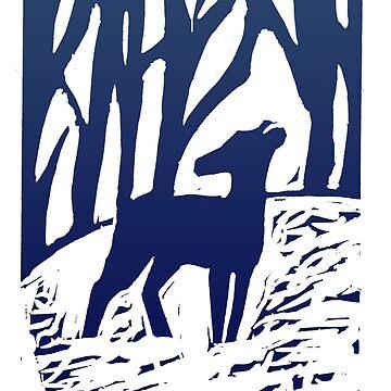 Deer in the Woods  by sunlitlake