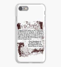 FIRST Amendment US Constitution Bill of Rights iPhone Case/Skin