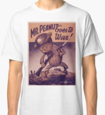 Vintage poster - Mr. Peanut Goes to War Classic T-Shirt