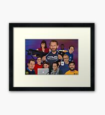 DTNS Super Tech Poster Framed Print