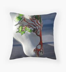 Cow with tree, Ebrington, Derry Throw Pillow