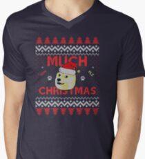 Much Christmas - Doge Meme Men's V-Neck T-Shirt