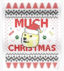 Much Christmas - Doge Meme Poster