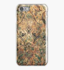Vintage Tea Stained Floral Pattern. iPhone Case/Skin