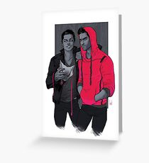 Teen Wolf - Little Red Has Pointy Teeth Greeting Card