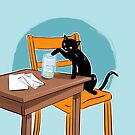 Chat and Water with Lemon on a Table by Bryan Moats