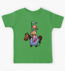 Medieval knight in shining armour Kids Tee